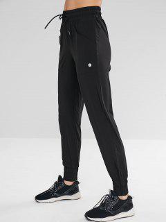 Pantalones Deportivos De Jogger Con Bolsillo - Negro L
