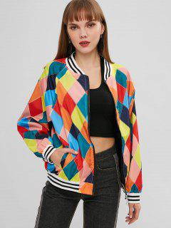 Argyle Windbreaker Jacket - Multi-a S