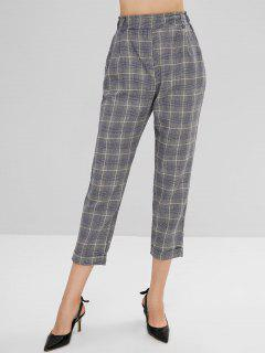 High Waist Houndstooth Pants - Multi L