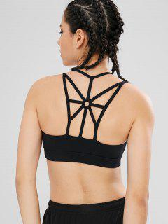 Harness Caged Yoga Gym Bra - Black M