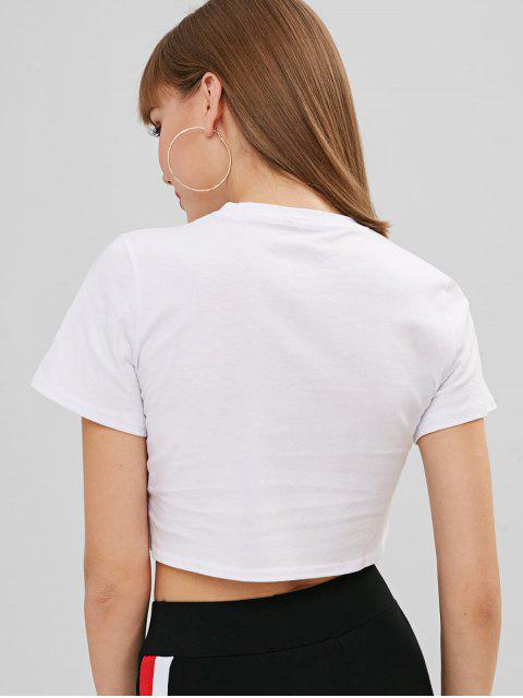 outfit Jersey Short Sleeve Cropped Tee - WHITE M Mobile