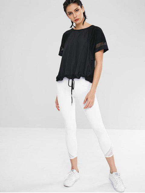 T-shirt Evidé Ourlet à Cordon - Noir M Mobile