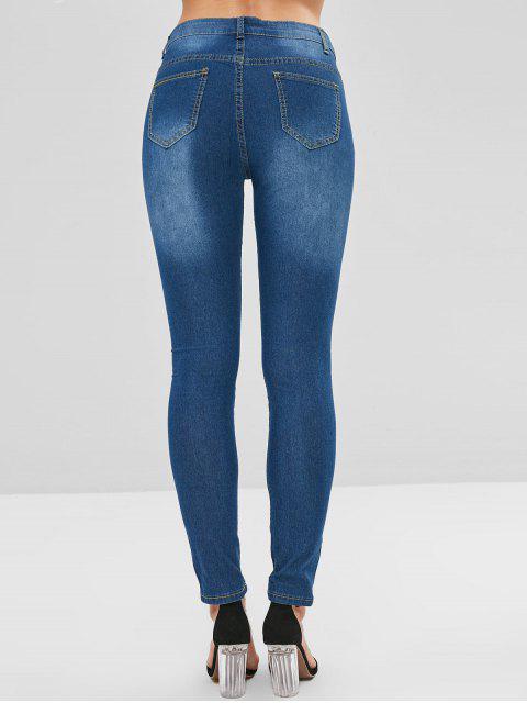 Abalorios adornados ripped jeans - Azul Denim M Mobile