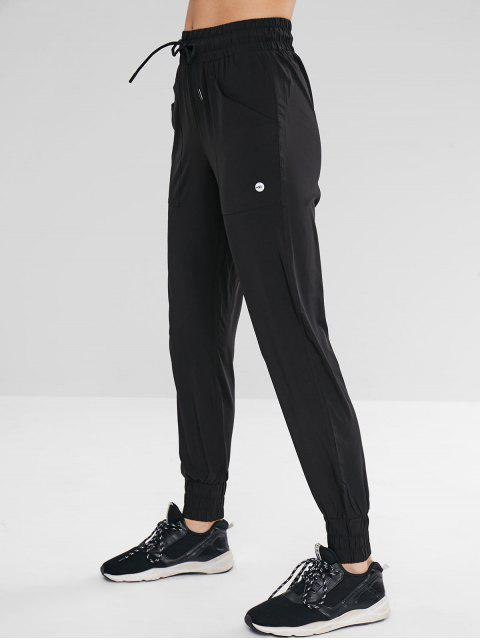 Pantalones deportivos de jogger con bolsillo - Negro M Mobile