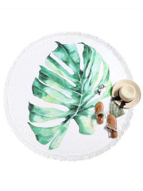 Serviette de plage à franges Palm Leaf - Multi-A Taille Unique Mobile