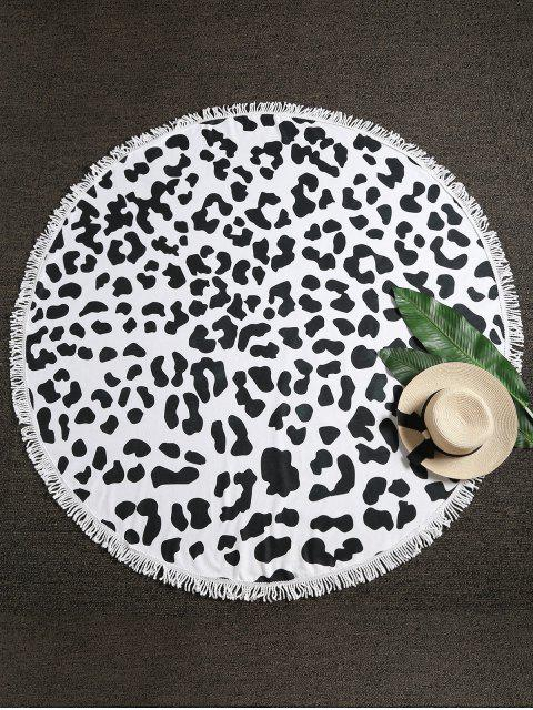 fashion Leopard Fringed Beach Towel - MULTI-A ONE SIZE Mobile