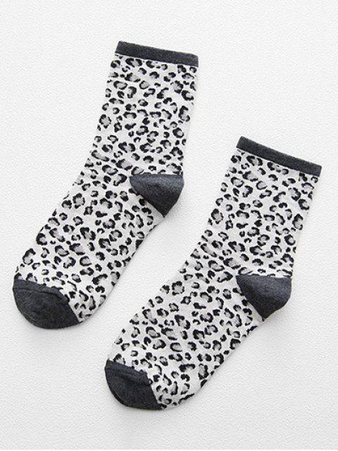 chic Stylish Leopard Print Ankle Socks - DARK GRAY  Mobile