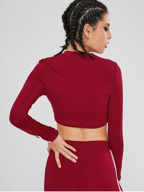 Camiseta deportiva de contraste - Rojo Lava S Mobile