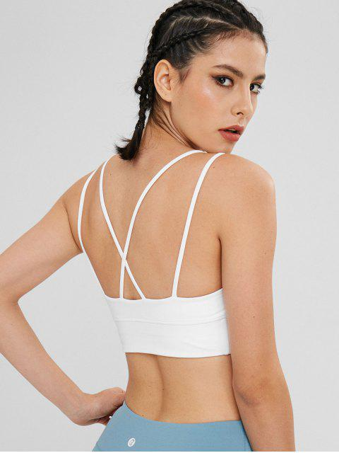 Cami - Doppelgurt-Sport-Yoga-BH - Weiß L Mobile