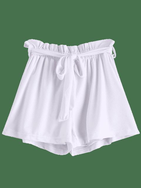 Short Noué Ceinturé à Taille Haute - Blanc M Mobile