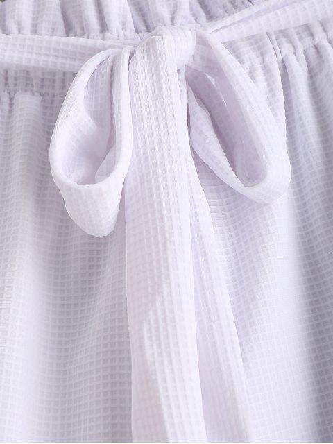 Short Noué Ceinturé à Taille Haute - Blanc L Mobile