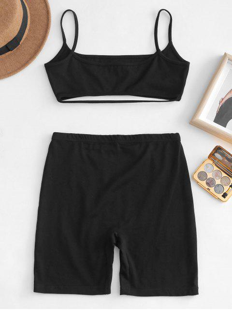 best Cami Top and Shorts Co Ord Set - BLACK M Mobile