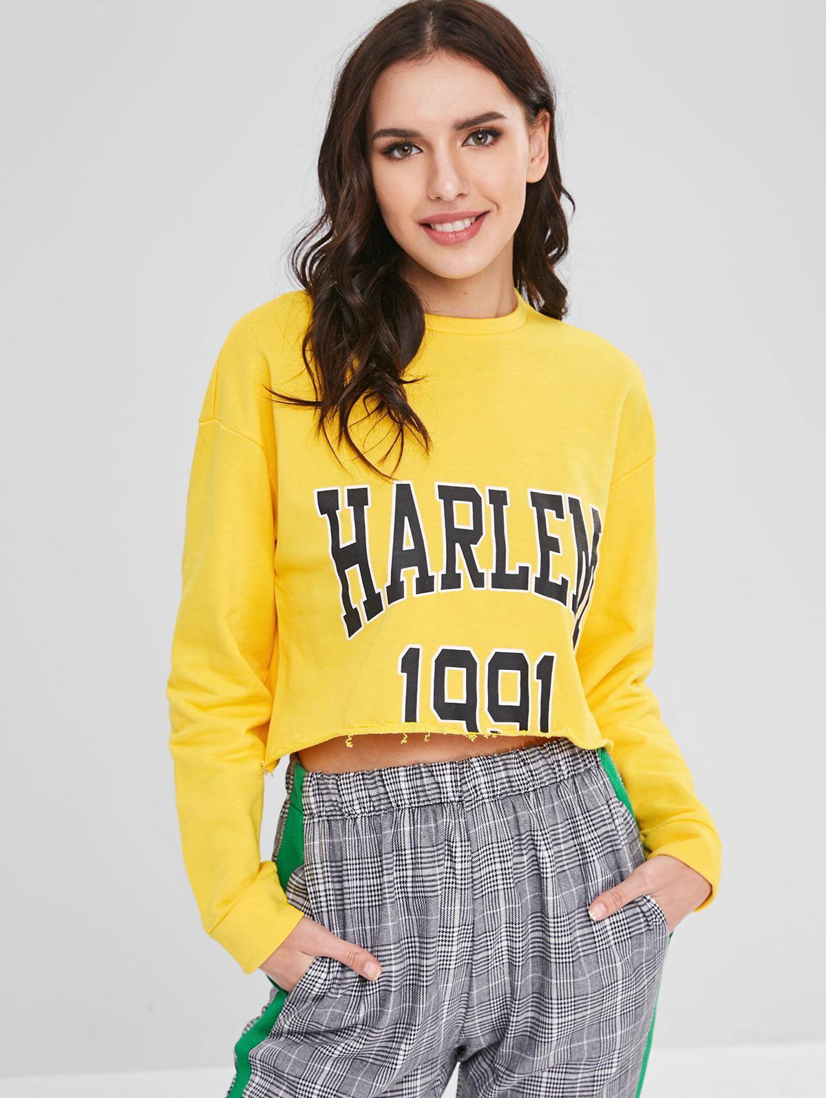 1991 Graphic Cropped Sweatshirt
