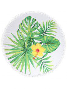 ورقة الأزهار طباعة مهدب الشاطئ منشفة - متعددة-a