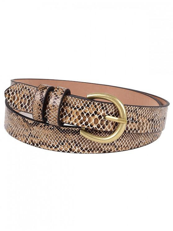 Metal Bucket Snake Pattern Waist Belt - الجمل الجمل