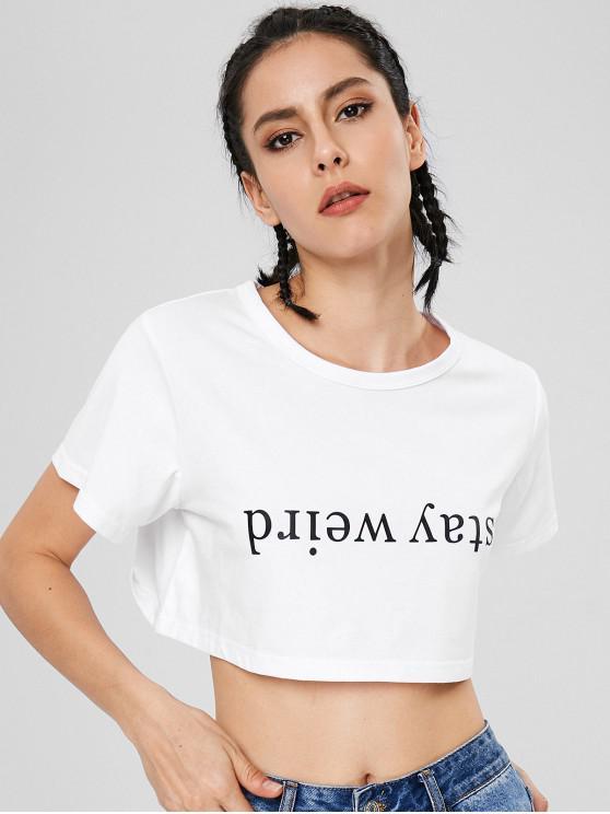 Camiseta corta manga corta extraña de Stay - Blanco M