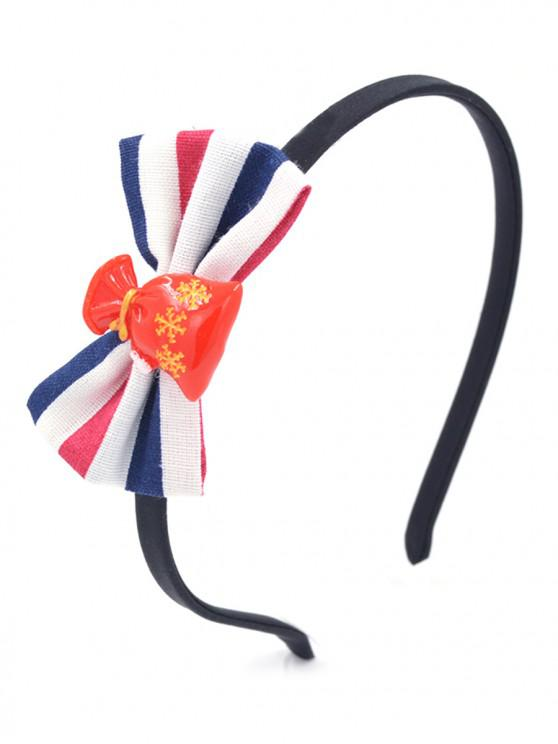 unique Bowknot Shape Striped Hair Band - LAVA RED