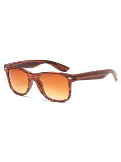 Vintage Rivets Inlaid Driving Sunglasses - Light Brown