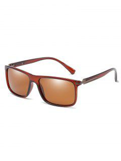 Anti UV Flat Lens Driving Sunglasses - Brown