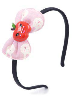 Fruit Bowknot Decorative Hair Hoop - Light Pink