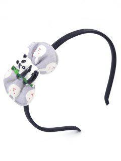 Cute Panda Party Hair Hoop - Gray Goose