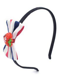 Cute Strawberry Bowknot Hair Hoop - Lava Red