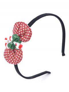 Christmas Cane Bowknot Party Hair Hoop - Lava Red