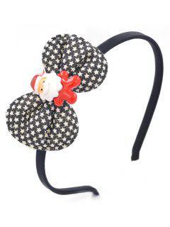 Santa Claus Bowknot Decorative Hair Hoop - Black