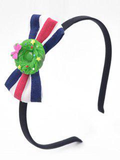 Color Block Bowknot Hair Hoop - Green