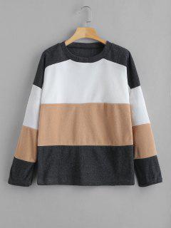Three Tone Drop Shoulder Sweatshirt - Multi Xl