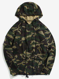 Side Reflective Strip Camo Cargo Jacket - Acu Camouflage Xl