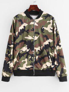 Camouflage-Bomberjacke Mit Reißverschluss - Acu Tarnanstrich M