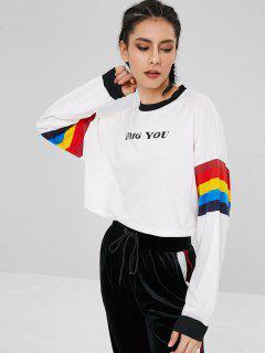 Rayé Je Vous Creuse Sweatshirt - Blanc
