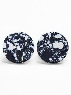 Geometric Artificial Stone Round Shape Earrings - Multi