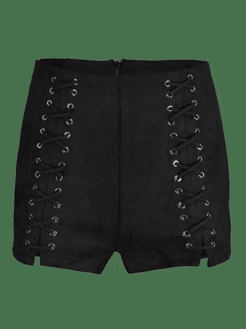 Short Croisé à Taille Haute - Noir L Mobile