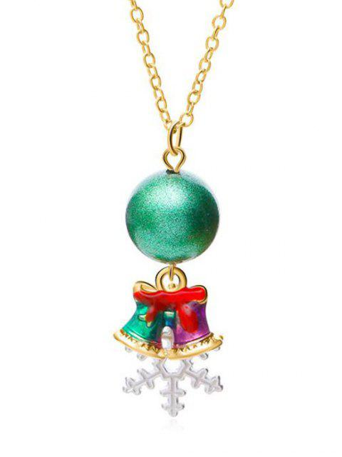 new Christmas Snowflake and Jingling Bell Design Necklace - GOLD  Mobile