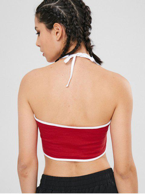 Brief Halfter Crop Tank Top - Rot L Mobile