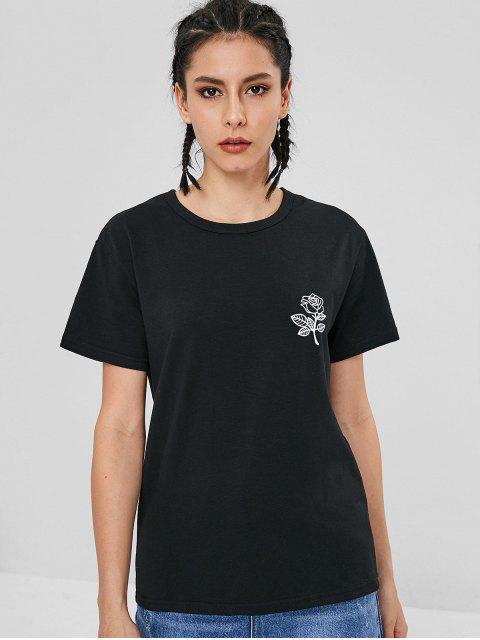 Kurzarm-T-Shirt - Schwarz 2XL Mobile