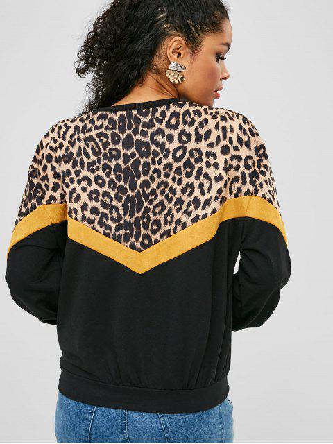 sale Drop Shoulder Leopard Sweatshirt - MULTI XL Mobile