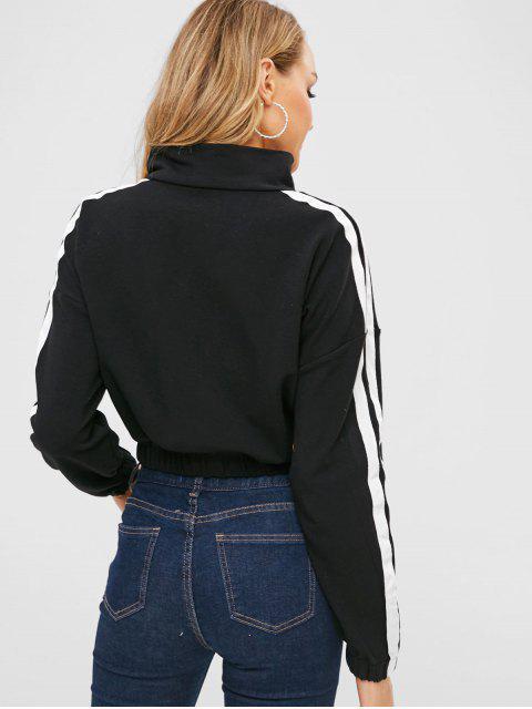 outfit Half Zip Pullover Sport Sweatshirt - BLACK M Mobile