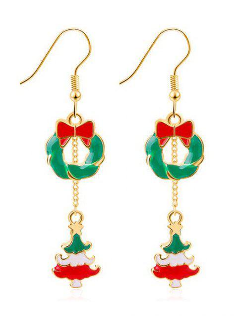 sale Christmas Tree Design Drop Earrings - GOLD  Mobile