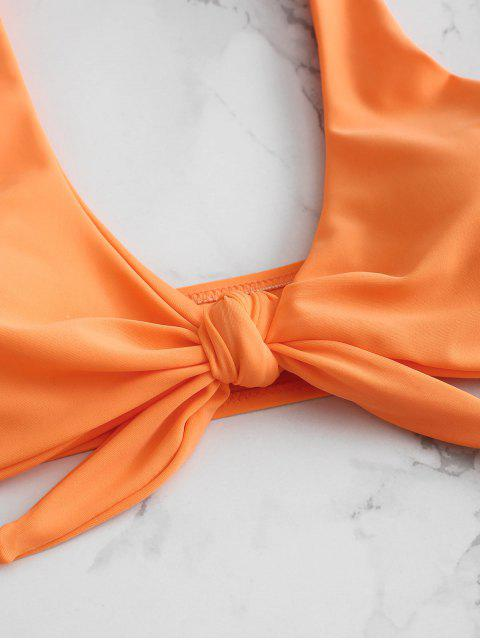 Bikini String Noué Rembourré - Orange Mangue M Mobile