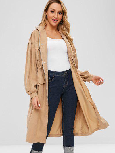 403f207e57 ... Manteau Trench Taille à Cordon Avec Poche - Marron Camel M