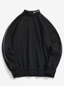 البلوز الياقة المدورة إلكتروني البلوز - أسود M