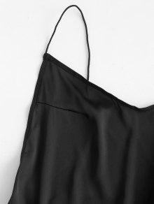 004ec9b372b7c 23% OFF] 2019 Backless Lingerie Slip Sleep Dress In BLACK | ZAFUL