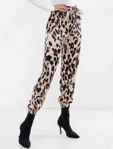 بنطلون جينز بطبعات جلد الفهد - فهد M