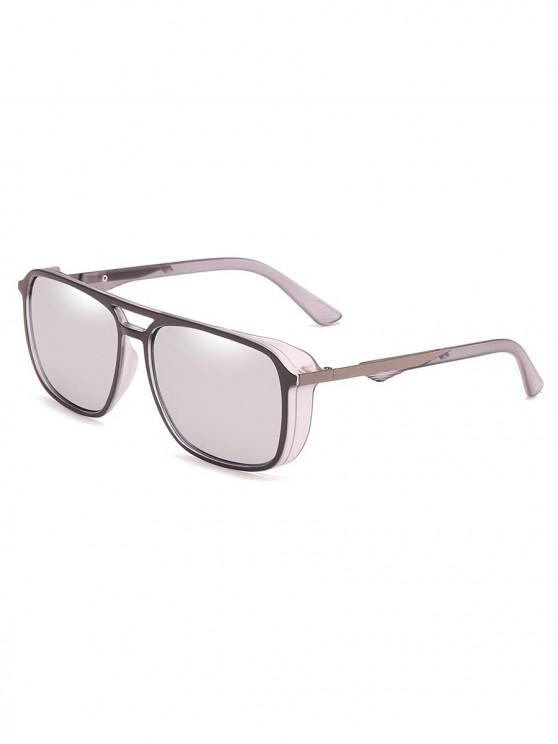 4b03631e5f37a 8% OFF  2019 Stylish Crossbar Driving Holiday Sunglasses In PLATINUM ...