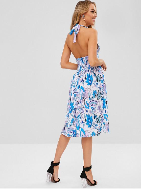 Vestido con cuello halter floral - Multi XL