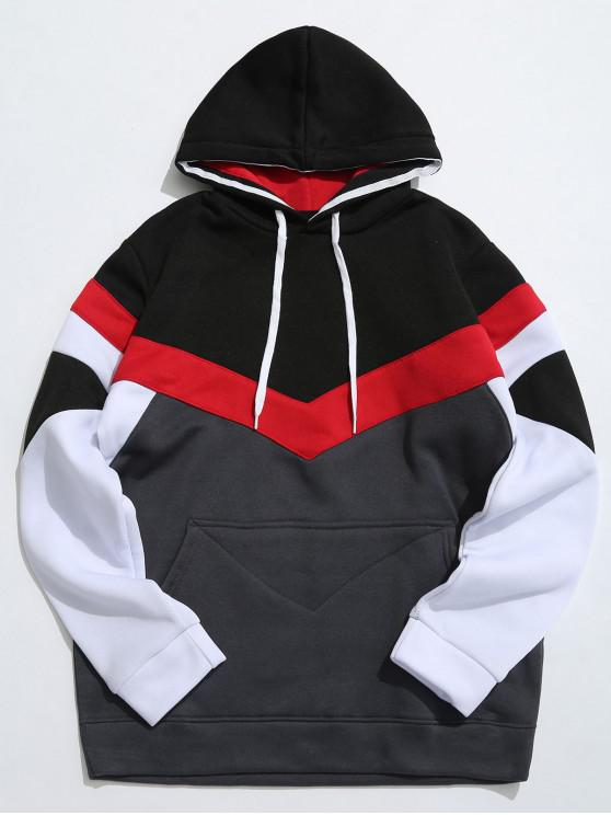 sale Casual Pouch Pocket Pullover Graphic Hoodie - DARK GRAY M