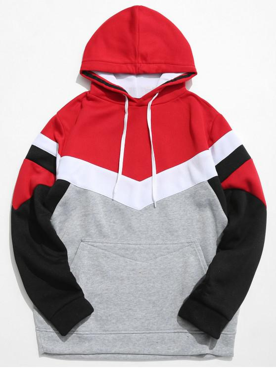 buy Casual Pouch Pocket Pullover Graphic Hoodie - LIGHT GRAY L